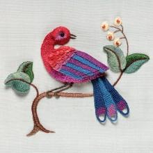 rød fugl